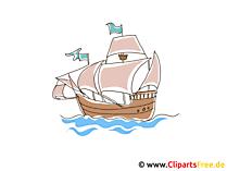 クリストファーコロンブス船クリップアート