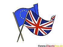 フラグEUイギリスイギリスイラスト、イメージ、クリップアート