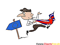 無料イラストBrexit、イギリス、EU、出口