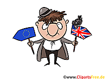 Schilder UK EU zum Brexit Clipart, Illustration, Bild