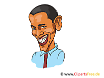 Barack Obama Karikatur, Bild, Illustration, Comic