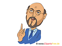 Martin Schulz Karikatur, Bild, Illustration, Comic