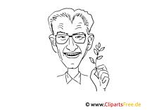 Winfried Kretschmannデッサン、漫画、風刺画