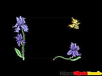 Blumen Ranken Rahmen fuer Bilder und Fotos