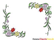꽃 덩굴손 여름, 봄 클립 아트