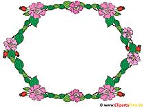 Clipart Rahmen Blumen