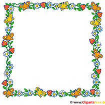 Frame made of flowers