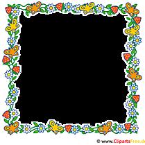 Rahmen aus Blumen