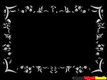 장식 꽃 프레임