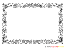 Rahmen dekorativ floral