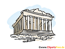 Akropolisbeeld, clipart, illustratie, vrij grafisch art
