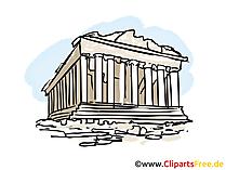 Akropolis Bild, Clipart, Illustration, Grafikm gratis