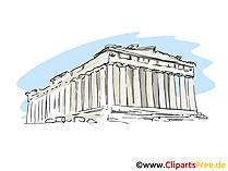 Akropolis Griechenland Clipart, Bild