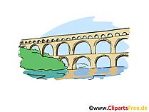 水道橋クリップアート、画像、漫画