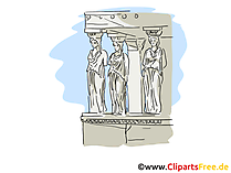 Athen Reisen Cliparts, Bild, Cartoon