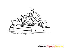 オーストラリア旅行の写真、クリップアート