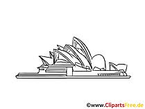 Australien Sidney Bild, Zeichnung, Clipart gratis