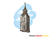 Big Ben London Bild, Clipart, Illustration, Grafikm gratis