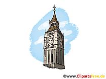 Big Ben London Bild, Clipart, Illustration, Grafikm gratis
