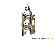 Big Ben London illustraties, foto, cartoon