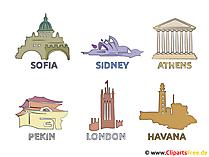 Foto's belangrijkste steden