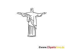 Brazilië reizen afbeelding, tekening, gratis clipart