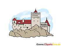 城のイメージ、クリップアート、イラスト、無料グラフィックアート
