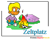キャンプのクリップアート画像無料