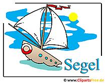 Cartoon schip clipart gratis