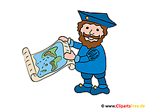 Christoph Columbus Comic, Cartoon, Bild, Clipart