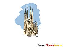 Clipart Reisen Barcelona