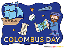 コロンブス記念日のクリップアート