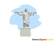 Cristo Redentor Clip Art, Bild, Cartoon