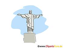 Cristo Redentor Clip Art, Bild, Cartoon