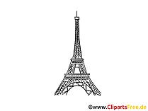 パリのエッフェル塔Image、描画、無料クリップアート