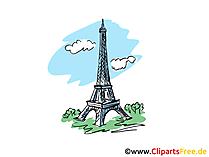 Eiffeltoren Parijs clipart, afbeelding, tekenfilm