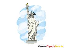 自由の女神像、クリップアート、グリーティングカード無料