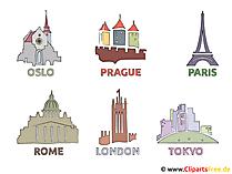 主要都市のクリップアート