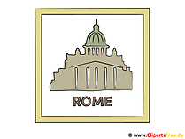 Beelden van hoofdstad Italië Rome