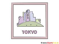 Hoofdstad Clipart van Tokyo