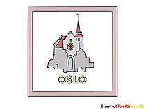 Hauptstadt Oslo Clipart