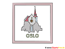 Hoofdstad Oslo Clipart