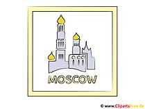 Hauptstadt Russland Moskau Bild