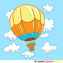 Heißluftballon Image, Clip Art, Cartoon, Bild