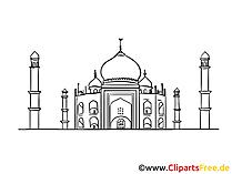 Indien Bild, Zeichnung, Clipart gratis