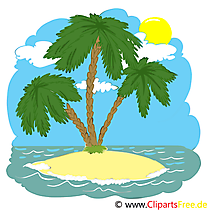 Island with palms clip art free