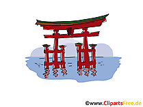 De reis clipart van Japan, beeld