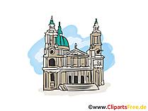 Kathedraalbeeld, clipart, illustratie, vrije grafisch
