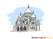 Kathedrale Clipart, Bild, Cartoon