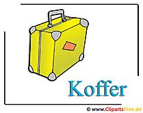 Koffers Clipart gratis